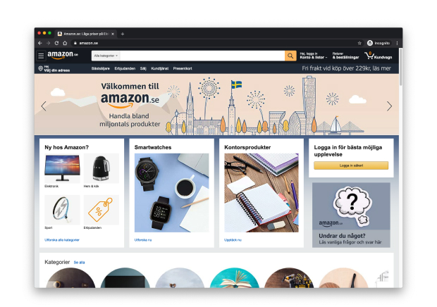 Amazon website on launch day